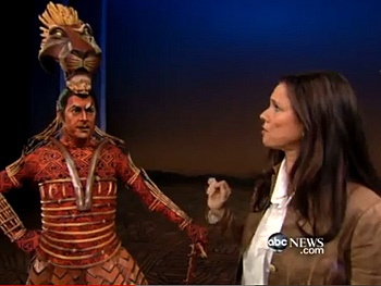 Julie Taymor Shows Off The Lion King's 'Sexiest' Puppet and Heads to Brazil on Nightline