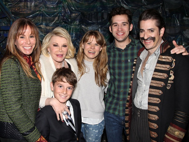 Joan and Melissa Rivers Anchor Down with Stars of Peter and the Starcatcher
