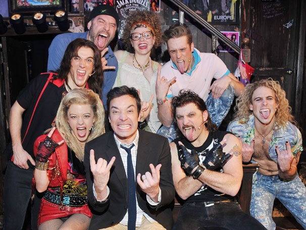 Rock On! Late Night Host Jimmy Fallon Visits Rock of Ages