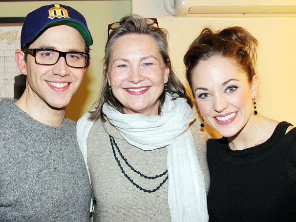 Celeb Guests Cherry Jones & Rebecca De Mornay Visit Laura Osnes and the Cast of Broadway's Cinderella