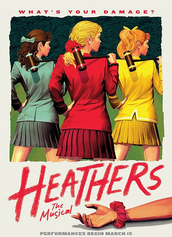 Strip Croquet, Anyone? Check Out This Very Poster For Off-Broadway's Heathers: The Musical