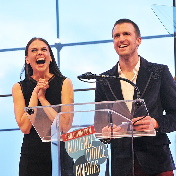 Gimme Gimme! Sutton Foster & Gavin Creel Reteam at the Broadway.com Audience Choice Awards 