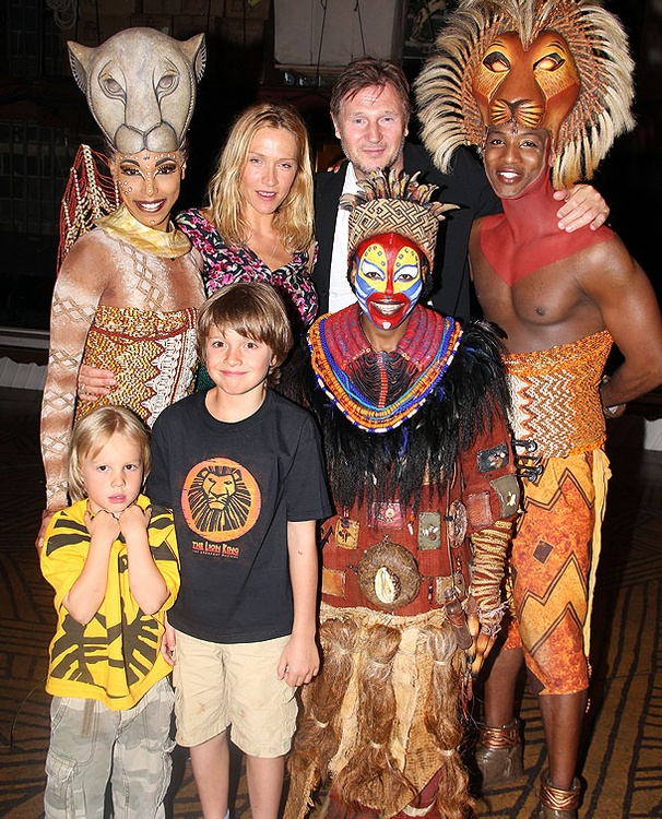 Liam Neeson Goes Wild with Girlfriend Freya St. Johnson at Broadway's The Lion King