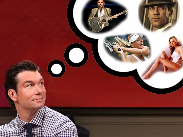 New Feature! Seminar's Jerry O'Connell Shares His Obsession with Maria Sharapova, Shazaam, Once & More