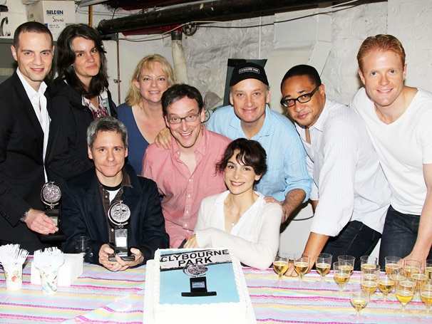 Cheers! The Clybourne Park Company Toasts Tony Win Backstage