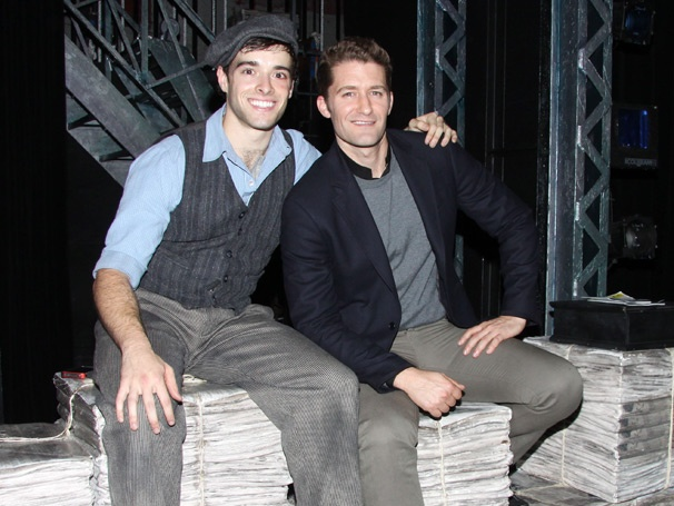 Glee Star Matthew Morrison Hangs Out with Corey Cott Backstage at Newsies