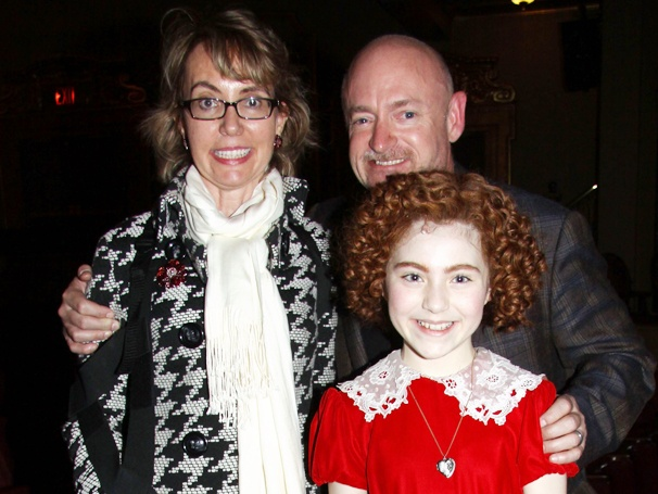 Gabrielle Giffords, Victor Garber and Debra Monk Surprise the Cast of Broadway's Annie