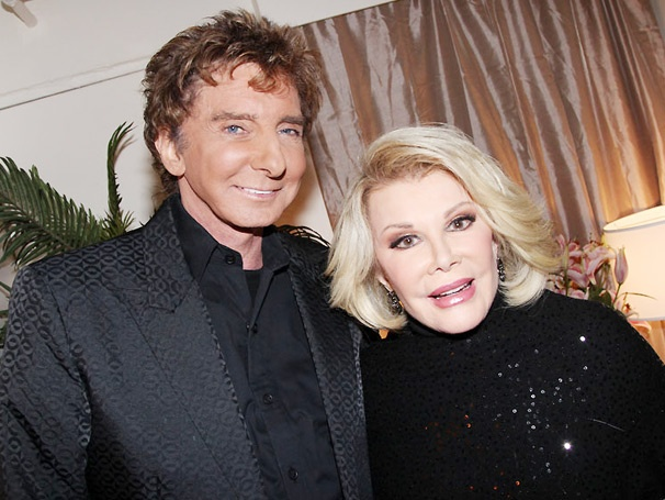 Funny Lady Joan Rivers Cozies Up to Barry Manilow on Broadway