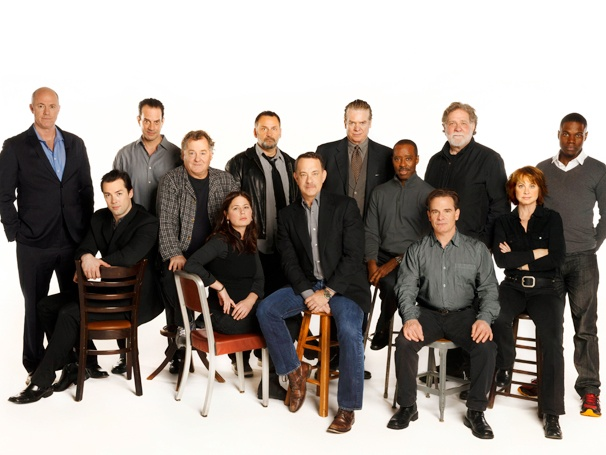Cast Photo! Tom Hanks, Maura Tierney, Peter Scolari & the Stars of Lucky Guy Suit Up