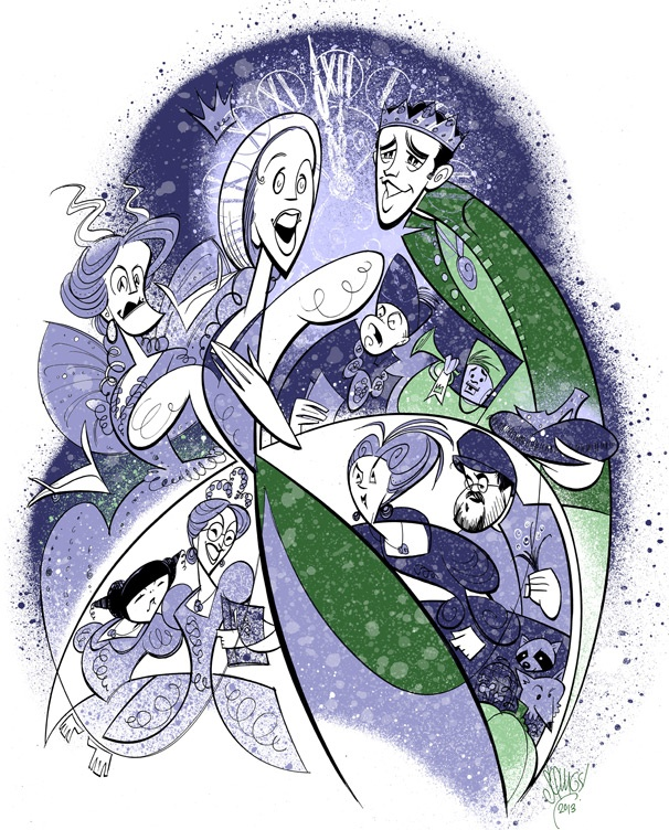 Squigs Sketches the Fairy-Tale World of Cinderella, Starring Laura Osnes and Santino Fontana