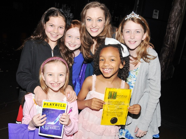 Annie Orphans & Newsies Guys Fall in Love with Laura Osnes at Cinderella
