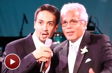 L'Chaim! In the Heights' Lin-Manuel Miranda Toasts His Bride on Their Wedding Day