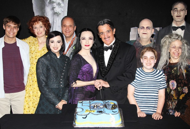 Bebe Neuwirth, Roger Rees and The Addams Family Toast 500 Creepy and Kooky Performances