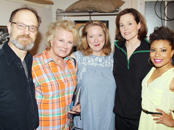 Candice Bergen Visits Pal Sigourney Weaver and Gang at Vanya and Sonia and Masha and Spike