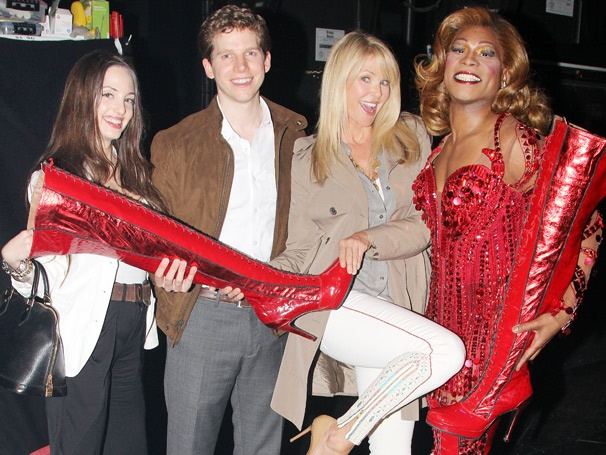Christie Brinkley Struts Backstage with Cyndi Lauper and the Cast of Kinky Boots