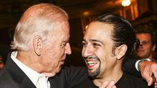 Photos! Vice President Joe Biden Gets a Hip-Hop History Lesson at Broadway's <I>Hamilton</I>