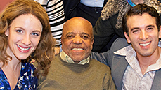 Photos! <I>Motown</I> Legend Berry Gordy Rocks Out with the Cast of <I>Beautiful</I> on Broadway