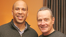 Senator Cory Booker Meets the President! Bryan Cranston Takes Him <I>All the Way</I> to Broadway