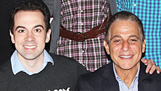 <I>Honeymoon in Vegas</I> Stars Rob McClure & Tony Danza Roll the Dice at Broadway.com Headquarters