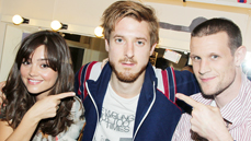 <i>Doctor Who</i> Reunion! Matt Smith and Jenna Louise-Coleman Visit Arthur Darvill's New Digs at <i>Once</i>