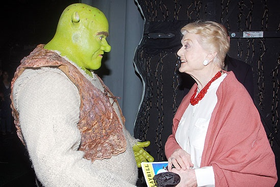 Angela Lansbury at Shrek - Brian d&#39;Arcy James - Angela Lansbury (talking)