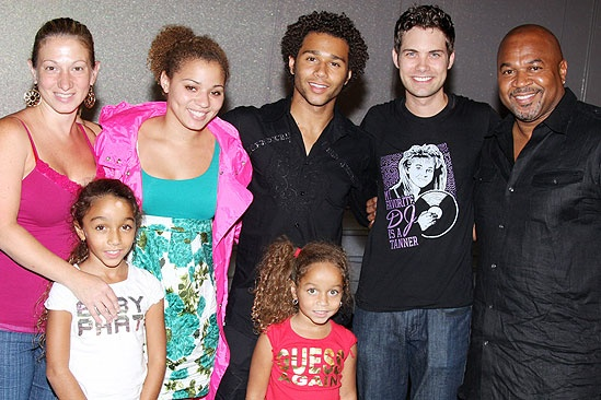 Corbin Bleu at Little Mermaid - Corbin Bleu - family