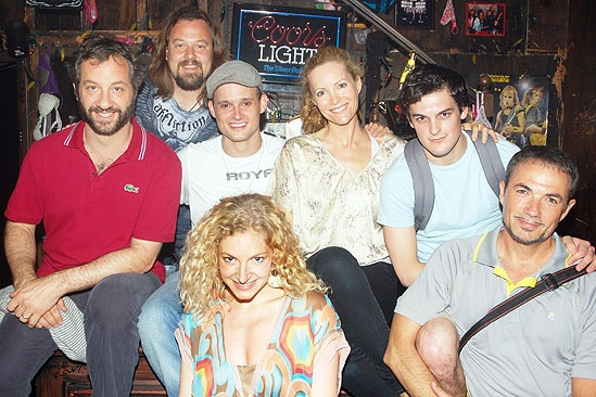 Judd Apatow and Leslie Mann at Rock of Ages - Judd Apatow - Leslie Mann - Tad Wilson - Jeremy Woodard - Lauren Molina - Wesley Taylor - Paul Schoeffler