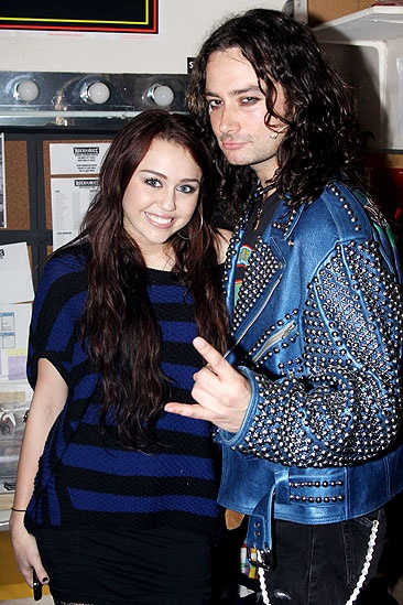 Miley Cyrus at Rock of Ages  Miley Cyrus  Constantine Maroulis