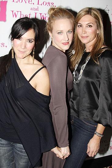 November 2009 cast of Love, Loss – Nadia Dajani – Katie Finneran - Julie Claire