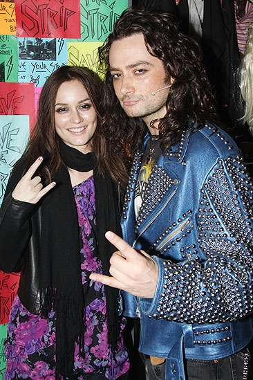 Leighton Meester at Rock of Ages - Leighton Meester - Constantine Maroulis metal sign