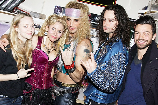 Amanda Seyfried and Dominic Cooper at Rock of Ages - Amanda Seyfried - Kerry Butler - James Carpinello - Constantine Maroulis - Dominic Cooper