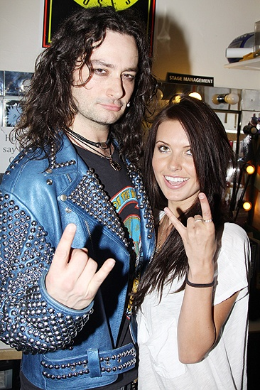 Audrina Patridge and Ryan Cabrera at Rock of Ages  Constantine Maroulis  Audrina Patridge