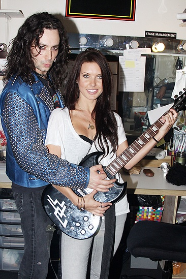 Audrina Patridge and Ryan Cabrera at Rock of Ages – Constantine Maroulis – Audrina Patridge (guitar)