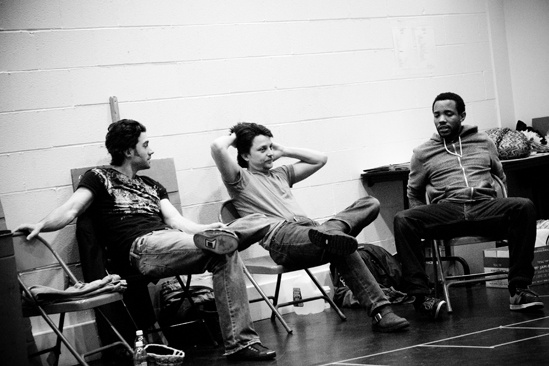 Hair Replacement Cast Rehearsal – Ace Young – Jason Wooten – Wallace Smith