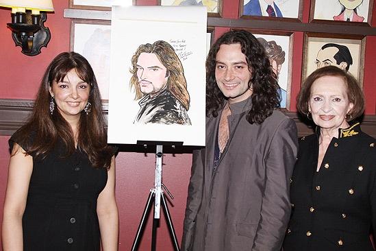 Constantine Maroulis at Sardi's – sister – mother