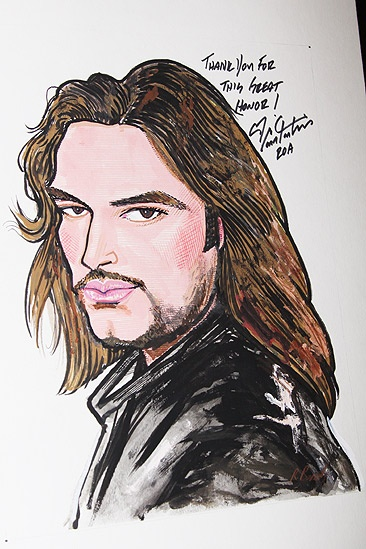 Constantine Maroulis at Sardi's - The Portrait