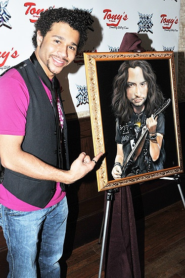 Constantine Maroulis at Tony&#39;s DiNapoli  Corbin Bleu
