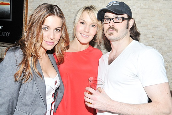 Constantine Maroulis at Tony&#39;s DiNapoli  Angel Reed  Katie Webber  Mitch Jarvis