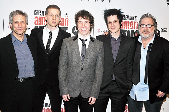American Idiot Opening  Ira Pittelman  Stark Sands  John Gallagher Jr.  Michael Esper  Tom Hulce