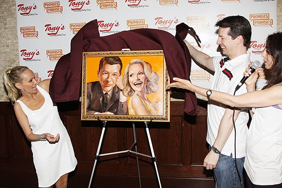 Kristin Chenoweth and Sean Hayes at Tonys Di Napoli  reveal