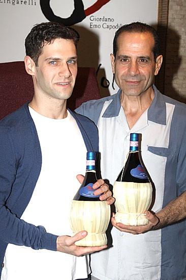Lend Me a Tenor Portrait at Tony's di Napoli – Justin Bartha – Tony Shalhoub (wine)