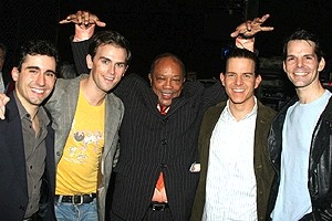Quincy Jones at Jersey Boys - John Lloyd Young - Daniel Reichard - Quincy Jones - Christian Hoff - J. Robert Spencer