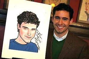 John Lloyd Young at Sardi&#39;s - John Lloyd Young - (with portrait)