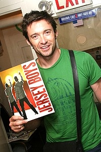 Hugh Jackman at Jersey Boys - Hugh Jackman (with program)