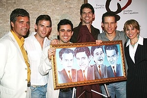 Photo Op - Jersey Boys Portrait Unveiling -  Bruce Dimpflmaier - Daniel Reichard - John Lloyd Young - J. Robert Spencer - Christian Hoff - Valerie Smaldone