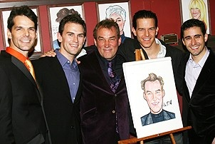 Photo Op - Des McAnuff at Sardis - J. Robert Spencer - Daniel Reichard - Des McAnuff - Christian Hoff - John Lloyd Young