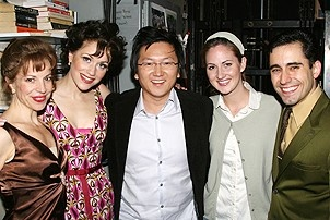 Photo Op - Masi Oka at Jersey Boys - Jennifer Naimo - Erica Piccininni - Masi Oka - Heather Ferguson - John Lloyd Young