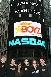 Photo Op - Altar Boyz bless the NASDAQ - Landon Beard - Kyle Dean Massey - Maribel Aber - Eric Schneider - Zach Hanna - Carlos Encinias