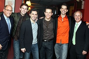 Photo Op - Jersey Boys does Actors' Fund benefit 2007 - Steve Kalafer - Daniel Reichard - John Lloyd Young - Christian Hoff - J. Robert Spencer - Joseph Benincasa
