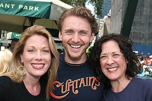Photo Op - Broadway in Bryant Park 07-26-07 -  Marin Mazzie - Jason Danieley - Karen Ziemba